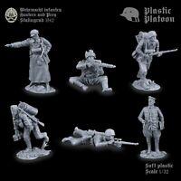 Soldatini di Plastic Platoon  Cecchini tedeschi  La seconda guerra mondiale 1/32
