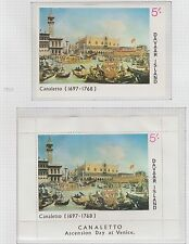 Davaar Island Canaletto Ascention Day at Venice 1968 Perf & Imperf M/S UM