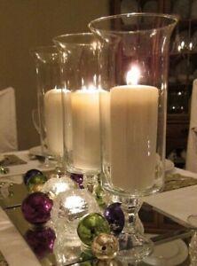 4Flared Pedestal Cylinder Vases Wedding Glass Table Centerpiece Candle Holders