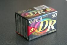 Confezione da 5 Audio Cassette FUJI DR 60 Minuti Vergini Nuove
