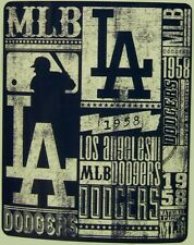 "Blanket Fleece Throw MLB Los Angeles Dodgers NEW 50""x60"" with protective sleeve"