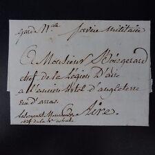 1807 LETTRE COVER SERVICE MILITAIRE GARDE NATLE VALTENCHEUX PR BOUVIGNY ET AIRE