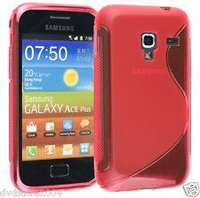 Pellicola + Custodia cover case WAVE ROSSA per Samsung Galaxy Ace plus S7500