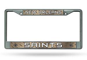 New Orleans Saints Authentic Metal Chrome License Plate Frame Auto Truck Car NWT