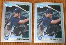 (2) 2010 Dustin Ackley Bowman Chrome Prospects #BCP89 RC