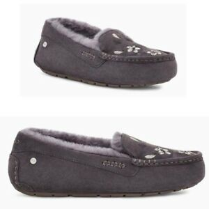 UGG Ansley Blossom Suede Moccasins Slipper Women's US Size 8 Nightfall Color
