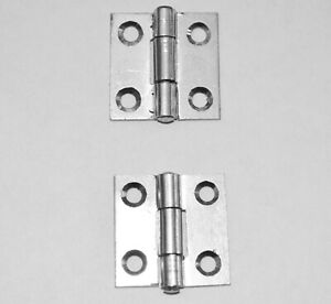 """1"""" Zinc Plated Butt Hinges for Small Projects, Rabbit Hutches etc  (1838-1"""")"""