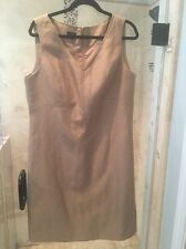 Talbots Metallic Gold Dress Size 16 Cocktail
