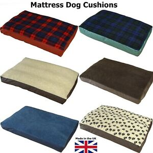 PnH Luxury Mattress Style Dog Bed, Cosy Fleece Top & Waterproof Base - 8 Colours