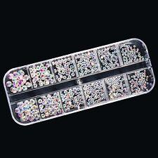Strasssteine Kristallglas Crystal AB Sortierbox mit Irisierendend Steinen #00865