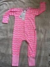 BONDS 'jurassic Stripe Pink' Zippy Zip Wondersuit Size 1 *BNWT*. Combined post