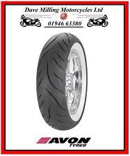 New  Harley Davidson Avon Whitewall MT90-16 (130/90-16) AV72 Motorcycle Tyre DA