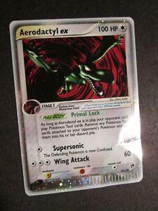 PL (bend mark) Pokemon AERODACTYL EX Card SANDSTORM Set 94/100 Holo PLAYED AP