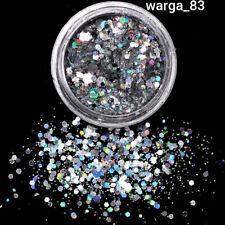 SilverNail Rhinestone Glitter Small Irregular Beads For Nail Art 3D Decoration S