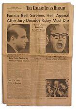 Jack Ruby Sentenced to Death Dallas Newspaper 1964