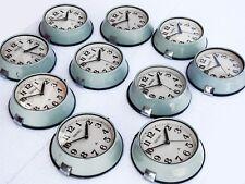 Lot of 10 Vintage Blue Maritime Slave Wall Clocks White Dial Nautical Ship Seiko