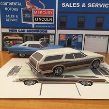 Papercraft Ford Gran Torino Squire wagon PaperCar E Z U-build 1974 - 1976 ToyCar
