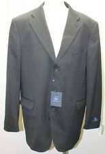 NWT Joseph Aboud Men Black Blazer 3 Buttons Wool Blend Lined 46R Colombia Made