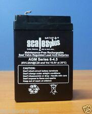 6V 4Ah 4.5Ah Rechargeable Valve Regulated Sealed Lead Acid Battery 20HR VRLA SLA