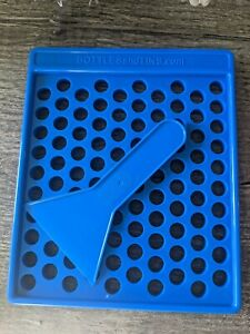 DIY Lip Balm Filling Tray Teal blue, Filling Tray Bottle and Tins (100 Holes)