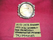 1977-1978 BUICK RIVIERA 1977-1980 LESABRE 2 DOOR FACTORY GM SPEEDOMETER ASSEMBLY