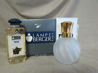 LAMPE BERGER PARIS CATALYTIC FRAGRANCE LAMP IN FROST SWIRL PATTERN FROM  FRANCE
