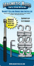 Magnetic Bliss Acoustical Tile Ceiling Hooks and Installation Tool