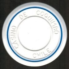 Chile Casino Chip- Casino de Coquimbo - valueless - roulette Blanco/azul