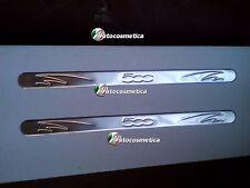 2 BATTITACCO PER FIAT 500 2007-2017+ HB 3PORTES COUPE & CABRIO ACCIAIO NUOVO-