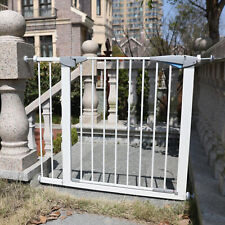 38-inch Adjustable Wall Mounted Baby Child Pet Locking Safety Gate Door White