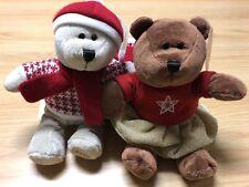 2018 Starbucks Christmas Bearista Bears Boy & Girl 146 & 147 Limited Edition USA