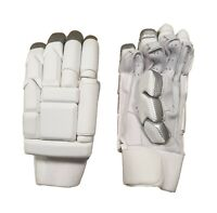 Cricket Batting Gloves White Plain Sausage Finger style Large Mens