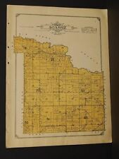 Minnesota Lac Qui Parle County Map Agassiz Township  1913  W3#24