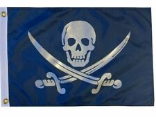 Flappin' Flags Pirate Navy Jack Rackham Outdoor Garden Boat Flag 12 x 18 in.