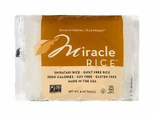 Miracle Noodle Zero Carb Gluten Free Shirataki Rice 8-Ounce (Pa... Free Shipping
