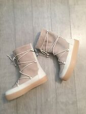 ZARA Women's Split Suede Lace-up Boots(Taupe, US  7.5/EUR 38)