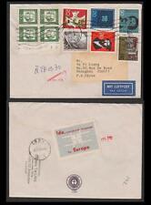 BRD 358 VB etc., Rand - Viererblock Beleg nach Shanghai, Ankunftsstempel #m791
