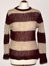Zara   Knit   Pullover     Gr.M    Weinrot/Beige      Damen    Pullover    Neu
