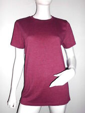 TEE-SHIRT UNISEXE BORDEAUX MANCHES COURTES COL ROND MARQUE DIVIDED AT H&M T.S/M
