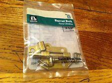 """Barrel Bolt Satin Brass Finish Everbilt Home Depot 240 397 06 2-1/2"""" 6.4cm NEW"""