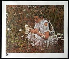 "JIM EDWARDS ""Julie Among the Daisies"" Fine Art Vintage Poster"