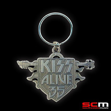 KISS ALIVE 35 OFFICIAL TOUR KEY RING LICENSED MERCHANDISE FREE AUSSIE P+H