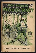 1920 - Boy Scout Book - Woodcraft - Gale & Polden - Scouts Library Series