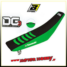 COPERTINA SELLA BLACKBIRD KAWASAKI KX 125 - 250  DOUBLE GRIP 3 NERO VERDE