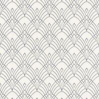 MODERN ART DECO ASTORIA WALLPAPER WHITE / SILVER - RASCH 433937