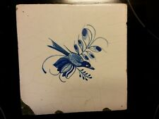 Antique Dutch animal bird tile 18th century from a fireplace