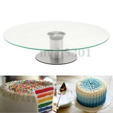 New Round Cake Stand Tower Glass Clear Cupcake Display Plates Birthday Wedding