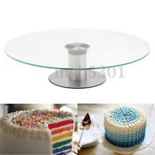 New Round Cake Stand Tower Glass Clear Cupcake Display Plates Birthday Wedding