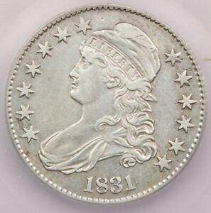 1831-P 1831 Capped Bust Half Dollar ICG AU50 Details