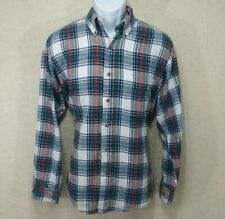 Claybrooke Outdoors Mens Large Long Sleeve Button Front Shirt Plaid Flannel B1